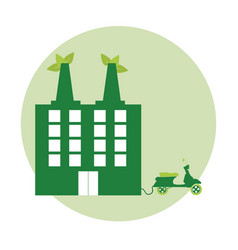 Green building and electricity vector