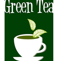 Green tea label vector image