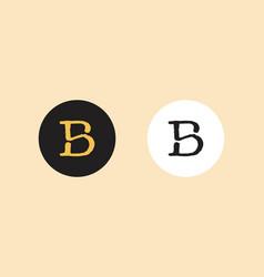 Hand drawn initial logo b s classic logo designs vector