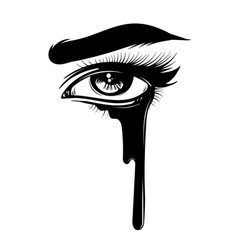 Hand drawn womans eye isolated vector