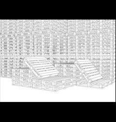 image of pallets vector image