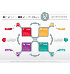 Infographic of technology process with icons Web vector