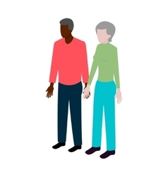 Isometric old black couple vector