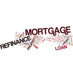 Learn about refinance mortgage text background vector