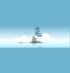 little islant vector image