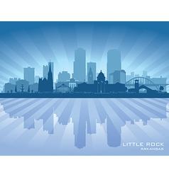 Little Rock Arkansas city skyline silhouette vector