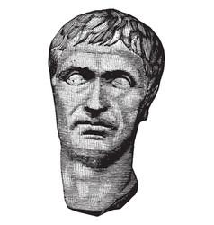 Lucius cornelius sulla felix a sculpture the vector