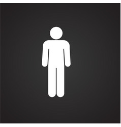 man on black background vector image