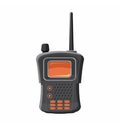 Military radio transmitter icon cartoon style vector