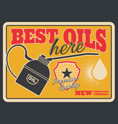 motor oil grunge retro poster of car service vector image