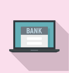 online bank icon flat style vector image