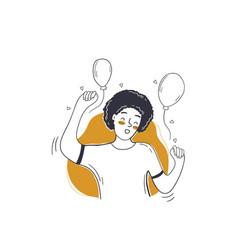 party dance success celebration birthday concept vector image