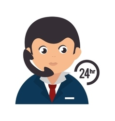 person operator headset service assistant vector image