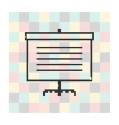 pixel icon screen for presentations vector image