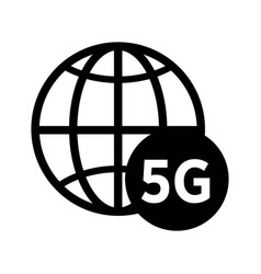 Planet or network isolated line icon 5g internet vector
