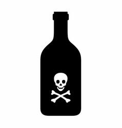 Poison bottle icon vector