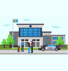 Police office station two vector