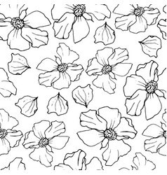 pomegranate seamless pattern floral repeat vector image