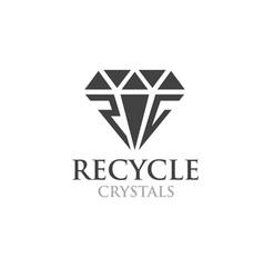 R c crystals silver logo designs simple modern vector