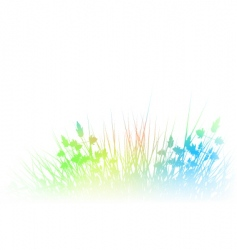 rainbow grass vector image