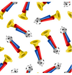 realistic detailed 3d trumpets football fan vector image