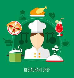 Restaurant chef concept vector