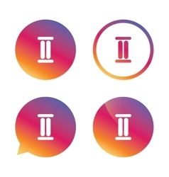 Roman numeral two icon Roman number two sign vector