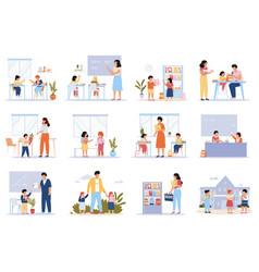 school pupils students in classroom pupils vector image