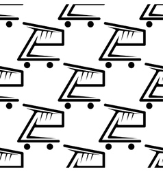 seamless background pattern shopping carts vector image