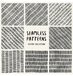 Set Geometric Seamless Pattern vector