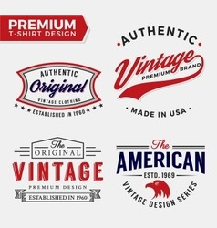 set premium apparel t-shirt design vector image