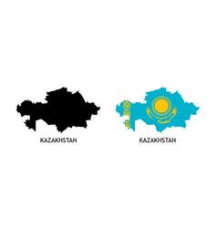 Silhouette kazakhstanon white color vector