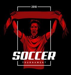 Soccer fan poster vector
