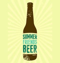 summer beer typographic vintage grunge poster vector image