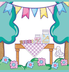 Summer food picnic vector