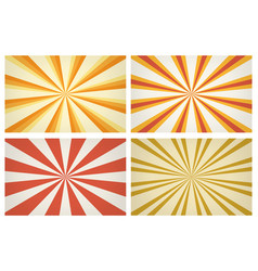 sunburst stripes patterns vector image