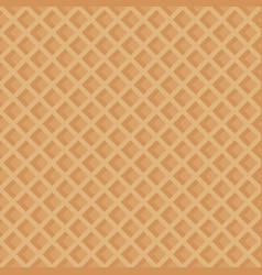 The texture of the waffles seamless pattern vector