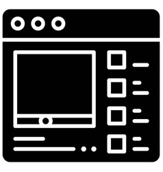 Theme setting telecommuting or remote work icon vector
