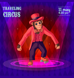 traveling circus advertising poster vector image