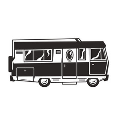 vintage recreation truck or motorhome template vector image