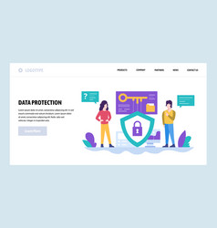Web site design template data protection vector