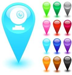 Webcam button vector image