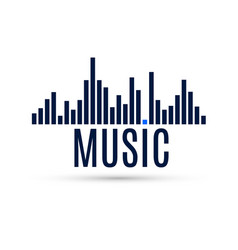 abstract equalizer icon music sound wave for vector image vector image