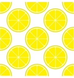 bright lemon slices seamless pattern vector image