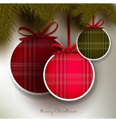 Christmas background with colorful textured balls vector image