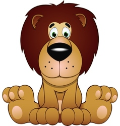 funny of a lion vector image vector image