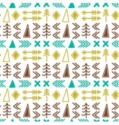 scandinavian pattern seamless ethnic pattern vector image vector image