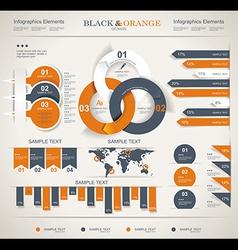 Set elements of infographics vector