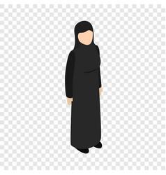 arab woman isometric icon vector image