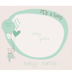 baby boy photo frame vector image